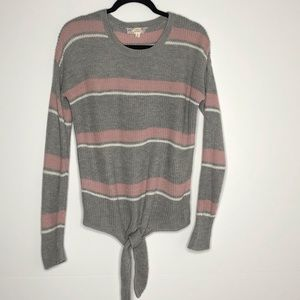 PINK REPUBLIK Sweater with Front Tie